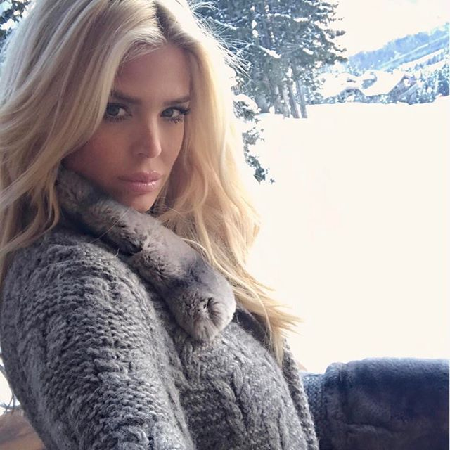 Victoria Silvstedt, Instagram photo, Loving the fresh mountain air