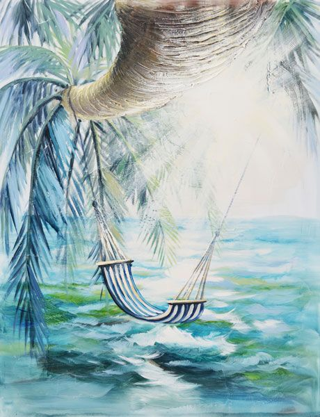 Beach Hammock Canvas Painting Wall Decor $169.95