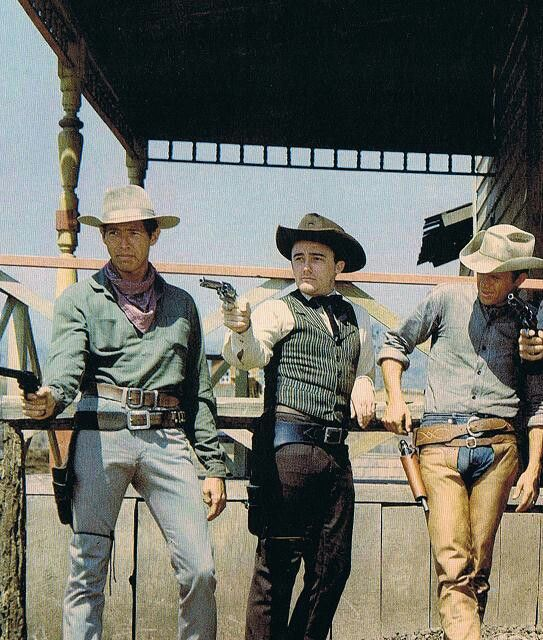James Coburn, Robert Vaughn, and Steve McQueen in The Magnificent Seven 1960
