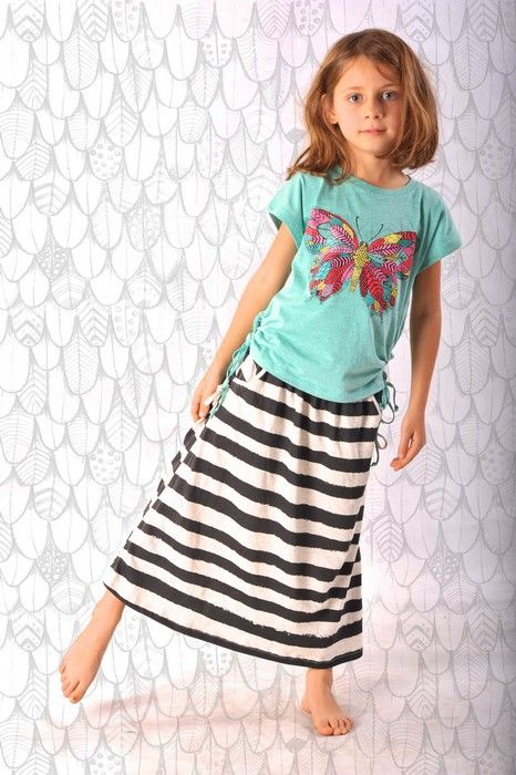 Paper Wings Summer 14Paper Wings Girls Flutterby Drawstring Tee