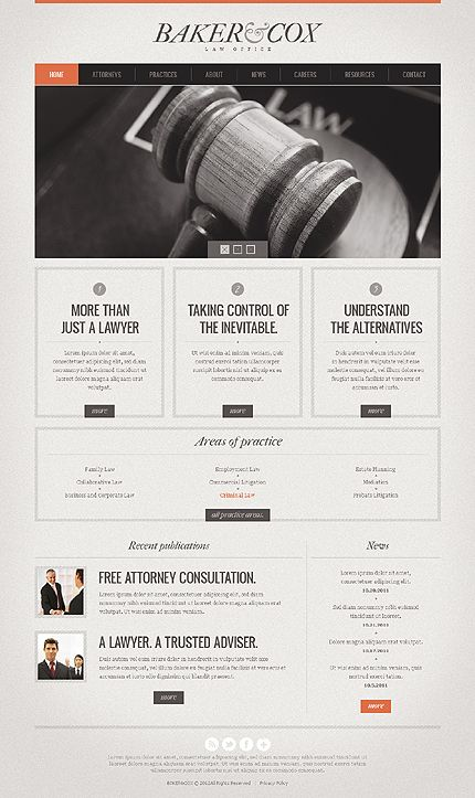Nice and Simple Web Design Template for Lawyers. #legal #lawyers #websign