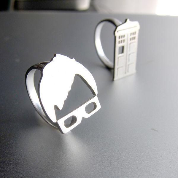 Décimo Doctor de Doctor Who - anillo de plata de Sonriendo anillo de plata platero y joyería por DaWanda.com