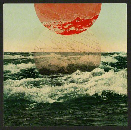 ocean: Album Covers, Tanya Johnston, Color, Illustration, Collage, Tidal Waves, Circle, Sun, Tanyajohnston