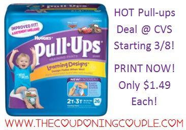 ***PRINT YOU COUPONS NOW ~ BEFORE THEY ARE GONE*** Check out this INCREDIBLE Huggies Pull-ups deal @ CVS starting on 3/8! Just $1.49 per Jumbo Pack! You will find the full DEAL BREAKDOWN and DIRECT LINKS to the coupons HERE ► http://www.thecouponingcouple.com/hot-huggies-pull-ups-deal/  #Coupons #Couponing #CouponCommunity  Visit us at http://www.thecouponingcouple.com for more great posts!