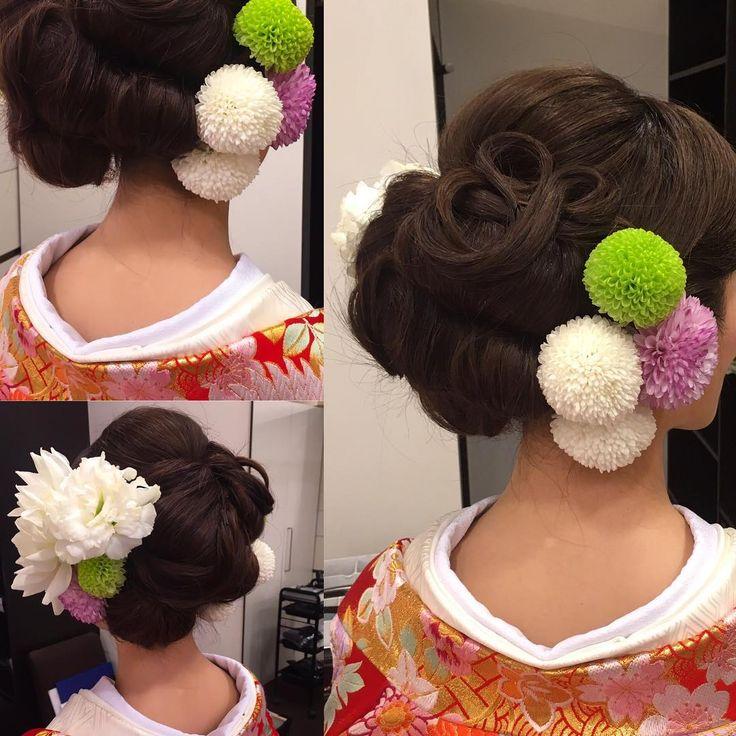 前撮りの時より可愛らしさをプラスしたいとお話頂いたので当日色直しスタイル提案  ぽこぽこした髪型に毛先でくるくるループ 気に入っていただけてよかったです(*^_^*) 本当にお綺麗でした #はんなり  #hair #hairdo #hairstyle  #bride  #wedding  #ヘアセット #ヘアスタイル #ヘアアレンジ  #ブライダル #ブライダルヘア #結婚式 #前撮り #アップスタイル  #プレ花嫁  #花嫁ヘア #和 #和装 #白無垢ヘア  #白無垢  #日本 #japan #日本の結婚式  #cute #花 #桜 #cute