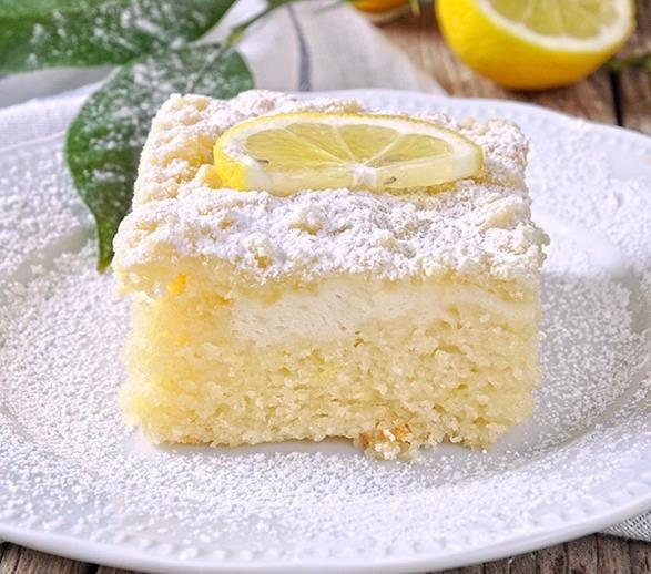 Citrónový koláč s jogurtom
