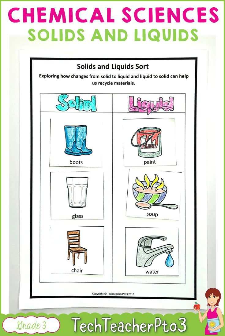 Year 3 Chemical Sciences Download For Grade 3 Teachers This Pack Covers Solids Liquids And Gases In Chemical Science Australian Curriculum Science Activities