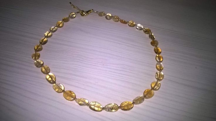 Transparent solar necklace from Natalia with our citrine