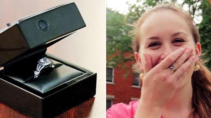 TOP : la caméra cachée dans l'écrin de la bague pour capturer les réactions des futures mariées !
