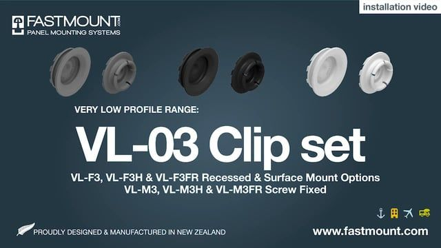 Perfect for mounting removable thin wall panels and facings, these clips require less depth compared to other Fastmount ranges.     The VL-F3 female clip can be surface or recessed mounted. The VL-M3 can be screw fixed and is designed for lateral adjustment.    No special installation tools are required. Designed and made in NZ the clip sets may be adhesive and/or screw fixed. Ideal for mounting panels where no drilling is preferred. Typical applications include wall panels, bed heads and…