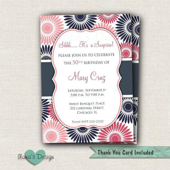 Florale Überraschung Einladung  überraschen Sie von IlonasDesign