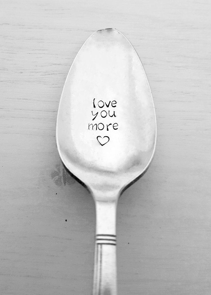 Love You More Spoon with Heart, Hand Stamped, Valentine's Day, Gift, Present, Husband, Wife, Girlfriend, Boyfriend, Birthday, Anniversary by SweetMintHandmade on Etsy https://www.etsy.com/listing/265215562/love-you-more-spoon-with-heart-hand