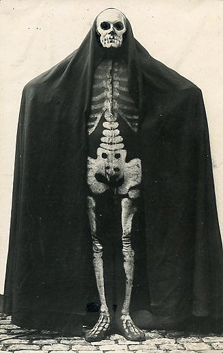 German skeleton costume circa 1915