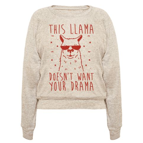 Show off your love of llamas and how much your hate drama with this funny, animal pun, llama humor shirt! Live drama FREE and llama FULL with this design!