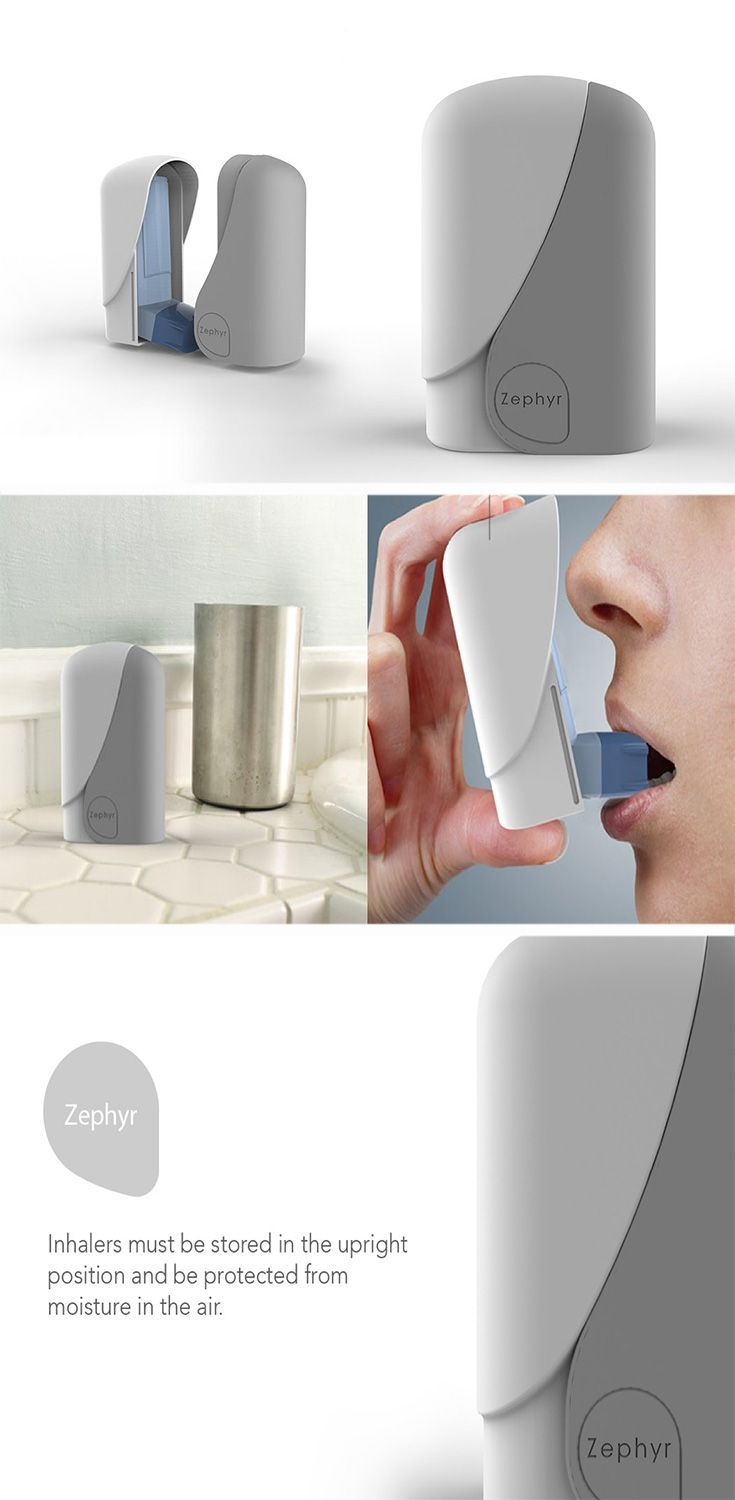 The Zephyr is a simplistic case that can be added to any inhaler to keep it upright and is ergonomically designed to fit comfortably in your hand.