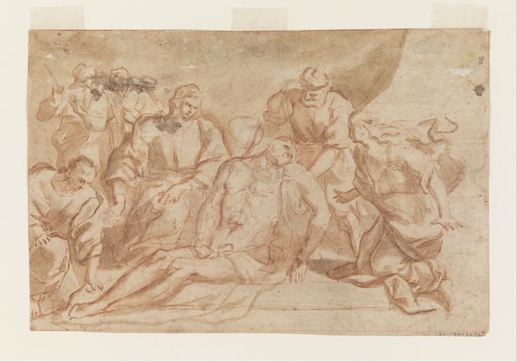 """Aniello Falcone """"Entombment of Christ"""" Object type: drawing Date: 1640–60…"""