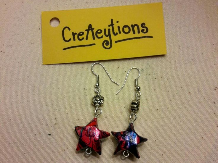 Origami hearts earring!