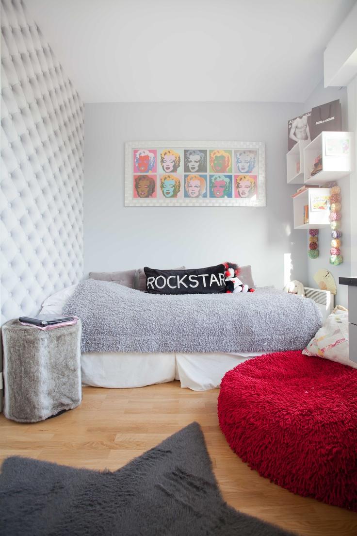 Chambre d'adolescente très girly