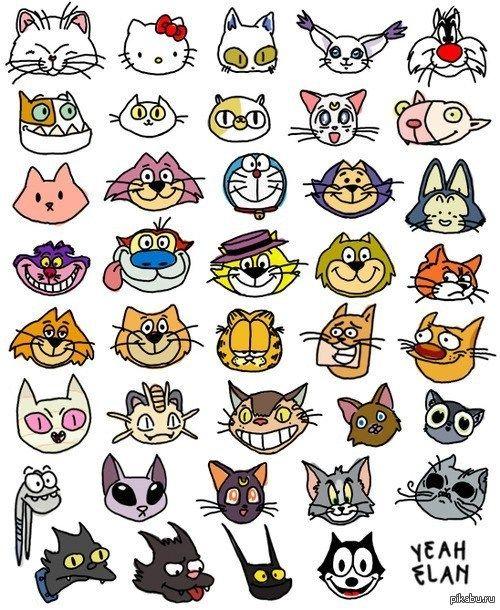 мультяшный кот - Поиск в Google