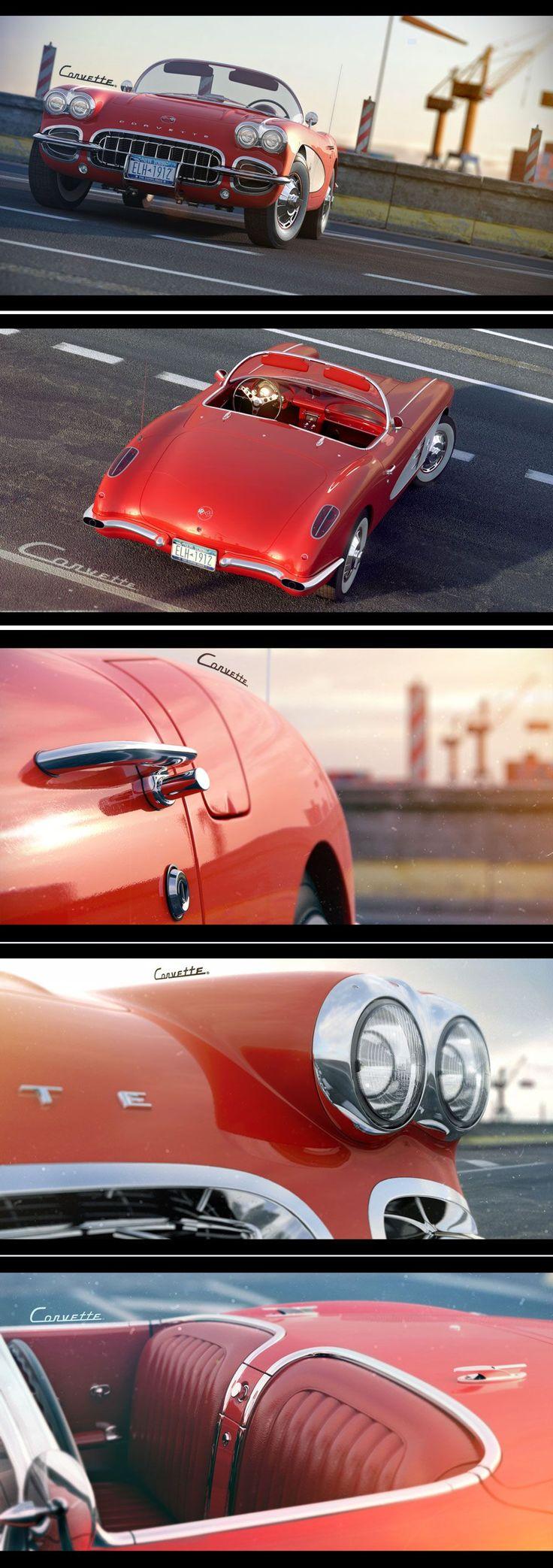 Corvette. Add a luggage rack, and I'll take it! Just sayin'...... #chevroletcorvette1958