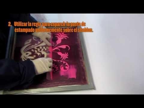 VIDEO PROCESO ESTAMPADO CON PASTAS AL AGUA – Experimentacion textil artesanal