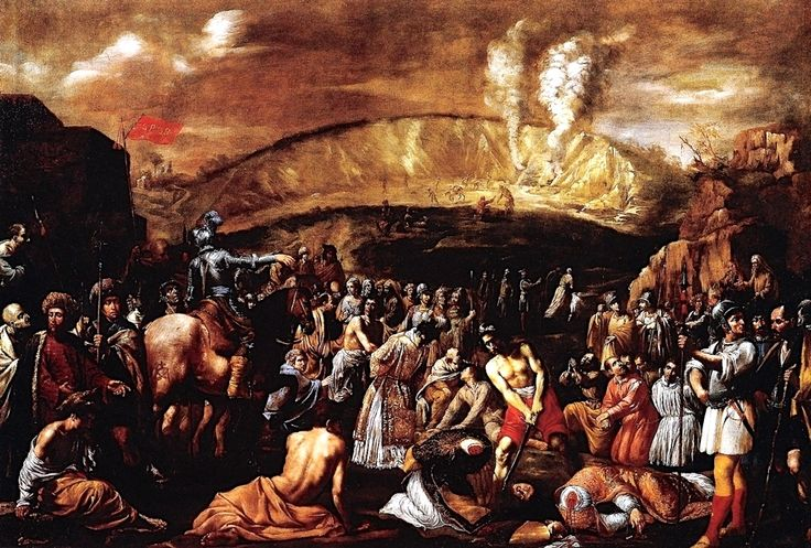 Aniello Falcone, The Martyrdom of Saint Januarius in the Solfatara of Pozzuoli…