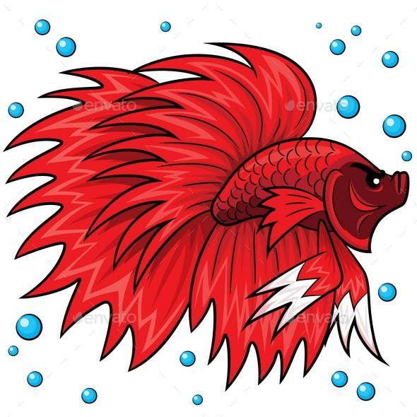 Betta Fish Cartoon Ikan Cupang Kartun Hewan