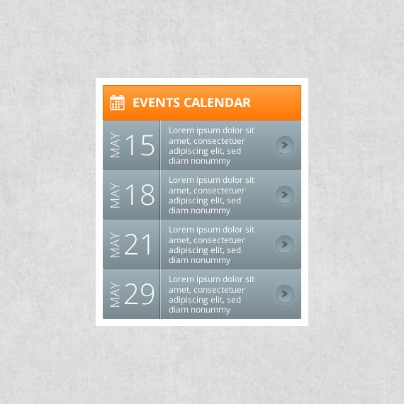 Calendar Event Design : Events calendar free web ui elements pinterest adobe