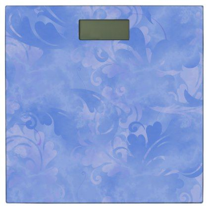 Blue Elegance Aqua Subtle Winter Azure Sapphire Bathroom Scale - summer wedding diy marriage customize personalize couple idea individuel