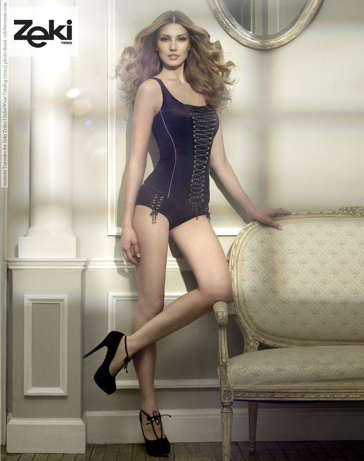 Anzhela Turenko for Zeki Triko UnderWear Catalog (2013) photo shoot #Anzhela_Turenko #fashion