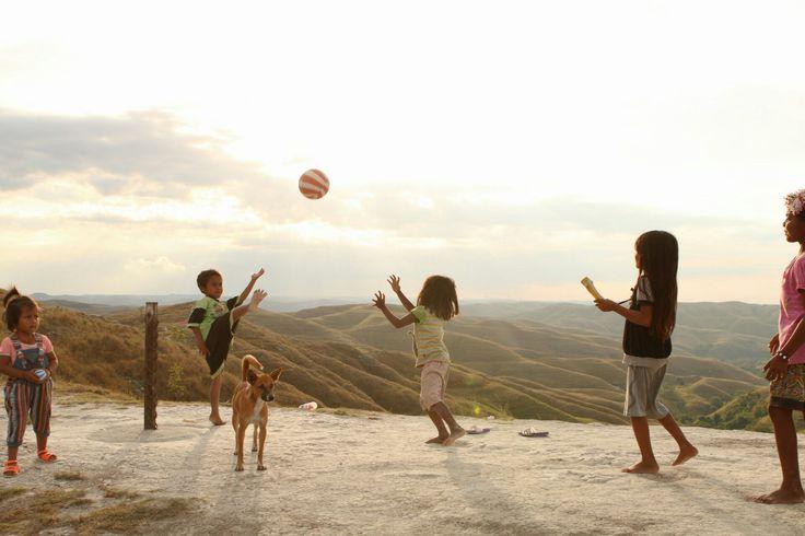 Wairinding hill, East Sumba When kids playing soccer