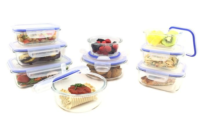18 piece kinetic glasslock elements food storage container for Kitchen set groupon