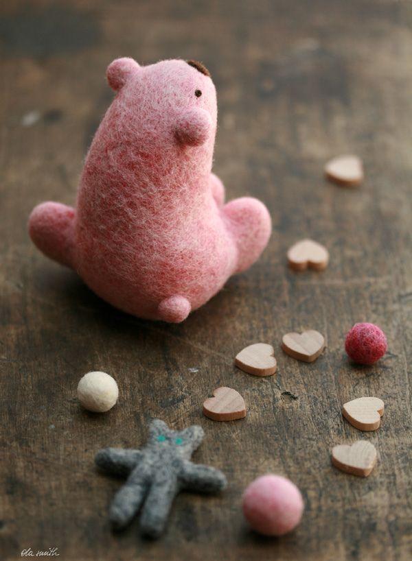 pink polar bear & his softie