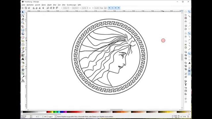Inkscape-Tutorial: ein Logo im Jugendstil