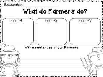 """Farm and Farm Animals """"simple research"""" writing unit for young learners.  ADDED:  Scarecrows section!!!  ADDED:  opinion writing templates and labeling pages for each animal"""