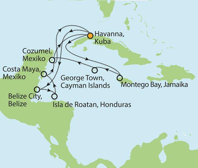 16 Tage Karibikkreuzfahrt Kuba, Mexiko, Jamaika etc. für nur € 1.499,- inkl. Flug!
