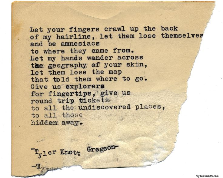 Typewriter Series #1739 by Tyler Knott Gregson