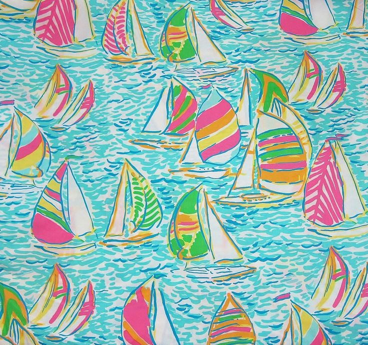 lilly pulitzer sailboat pattern crafting pinterest