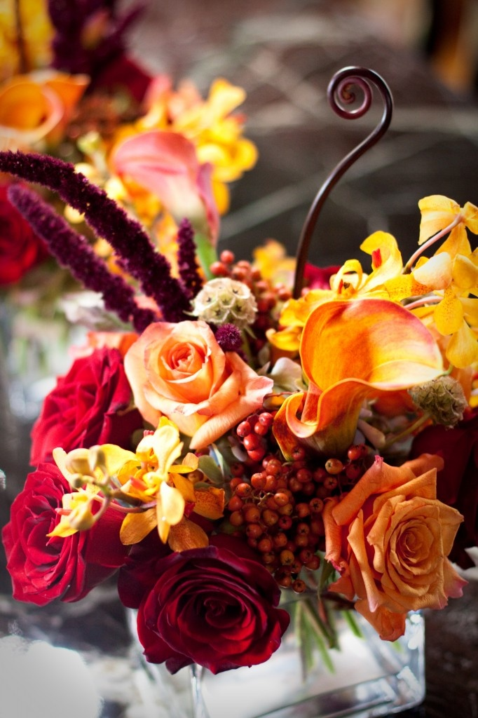 Absolutely love when Brides use colors like these in a Fall Wedding! Gorgeous! Flowers by Botanic Floral Designs.