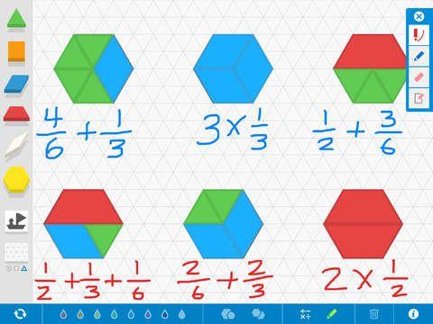 Appen Pattern Shapes - Utforska geometriska forme r och bråk.