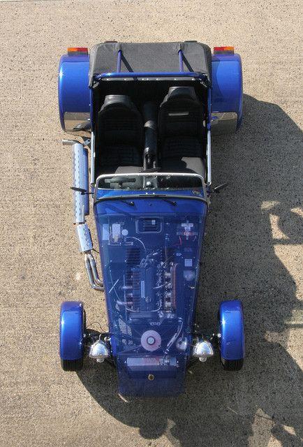 Lotus Super 7 car photoshopped by exfordy, via Flickr