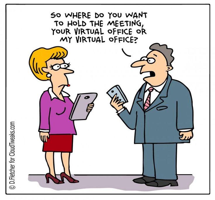 Friday cloudtweaks comic office virtual comic for Bureau humour