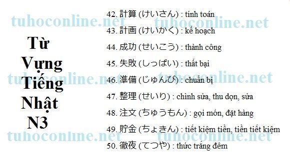 Từ vựng N3 sách mimi kara oboeru 5