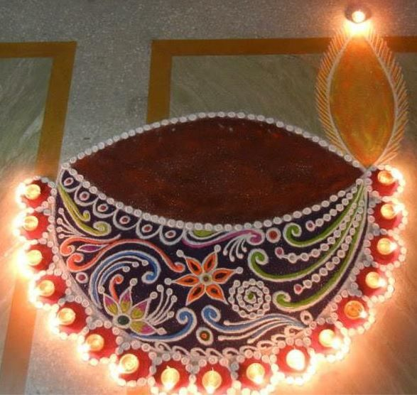 Beautiful and Easy Rangoli Designs for Diwali