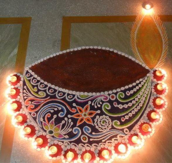 Beautiful and Easy Rangoli Designs for Diwali