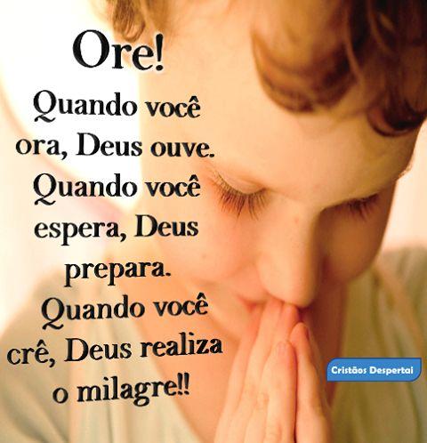 Quando você ora, Deus ouve. Quando você espera, Deus prepara... #Deus_Abencoe_Voce #Abencoe #Deus