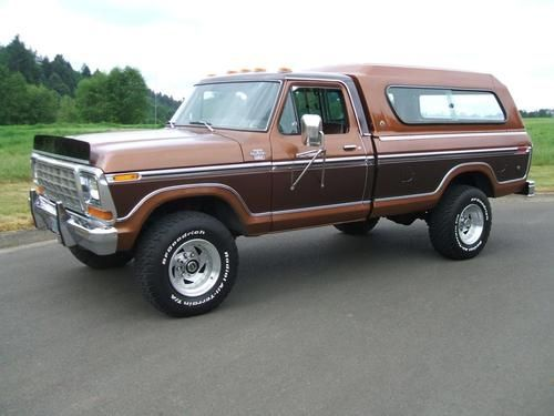 beautiful 1978 f250 4x4 | Beautiful 1978 Ford F250 Lariat 4x4 Trailer Special with camper ...
