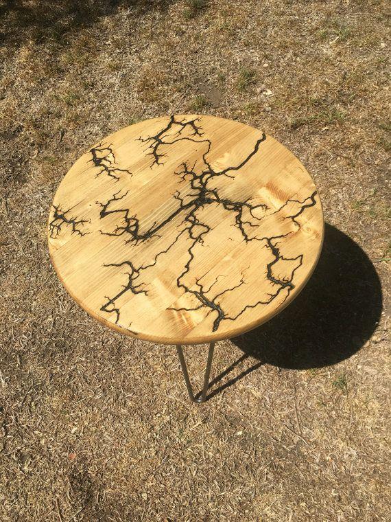 Lichtenberg Side Table By Redesignbklyn On Etsy Fractal