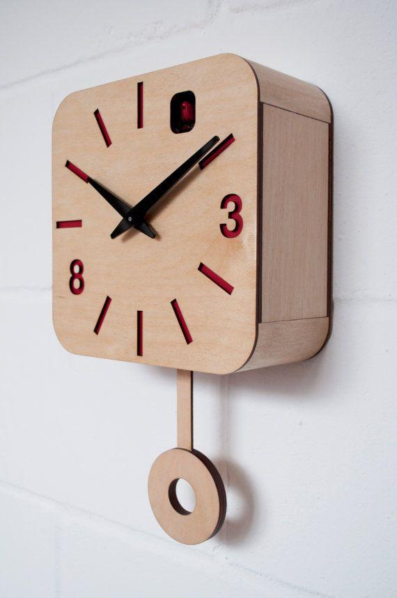 B83Box Plywood Quartz Cuckoo Clock and pendulum by pedromealha, £149.00