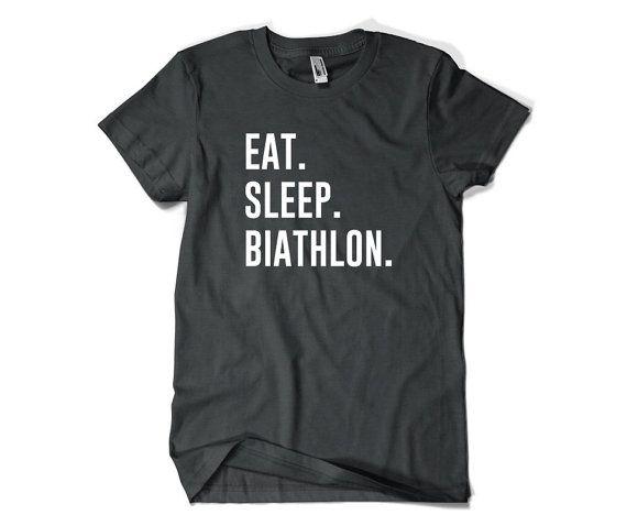 Biathlon Shirt-Eat Sleep Biathlon T Shirt Gift by SuperCoolTShirts
